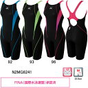 ミズノ(MIZUNO) 女性用 競泳水着 ストリームアクティバ ウイメンズハーフスーツ(オープン) N2MG6241