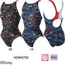 ミズノ(MIZUNO)ディズニー(アリスインワンダーランド)女性用 競泳水着 ストリームアクティバ ウイメンズローカット(オープン)N2MA6780