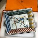 エルメス HERMES 灰皿 ブラン セラミック 陶器 ホワイト 馬