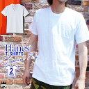 ヘインズ Hanes H5210 H5215 アパレル メンズ Tシャツ ジャパンフィット ブルーパック Vネック クルーネック 半袖 インナー 無地 evid