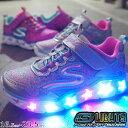 【あす楽】スケッチャーズ 光る靴 SKECHERS スニーカー 女の子 子供靴 キッズ ジュニア 10920L Sライツ-ギャラクシーライツ ライトアップスニーカー evid /-