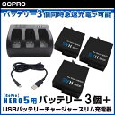 【GoPro】GoPro HERO7 V1.51 HERO6 HERO5 HERO2018 対応 SYH SHOPオリジナル互換バッテリー3個(保護ケース入り)+USBトリプルバッテリー充電器 GoProバッテリー3個同時急速充電が可能 GoPro5 S-10