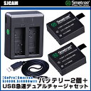 【SJCAM】Smatree SJ4000、SJ4000wif、SJ5000、 SJ5000wifi 、SJ5000Plus、SJ5000X、M10対応 バッテ...