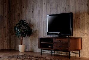 送料無料 完成品 TVボード 幅100cm ミディアムブラウ