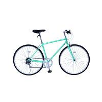 6段変速 クロスバイク 【グリーン】 700C スチール 幅169cm×奥行53cm×高さ100cm サドル83cm〜101cm 重量17kg 『FIELD CHAMP』【代引不可】の画像