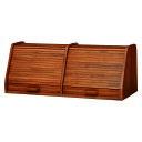 送料無料 ブレッドケース 木製 ブレッドボックス パン 収納 小物入れ 台所収納 調味料ラック スパイスラック シャッター扉 可愛い おしゃれ カウンター上収納 書斎 机上収納 卓上収納 北欧 RUD-1394-70