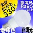 LED電球 E17 非調光 ミニクリプトン 5W 高演色 Ra95以上 330lm 照射角330度 光が広がるタイプ 電球色 2700K ミニクリプトン電球 40W交換品 1年保証 BD-0517N