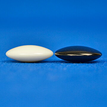 プラ碁石(1粒売り) 梅(厚み約7mm)