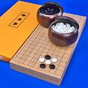 圍棋 - 囲碁セット 本桂7号折碁盤セット(ガラス碁石梅・プラ碁笥銘木大)