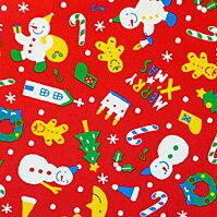 ラッピング クリスマス・赤【モバイル専用】