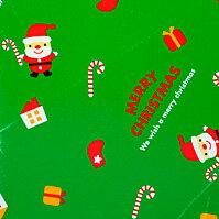 ラッピング クリスマス・緑【モバイル専用】