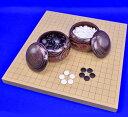 囲碁セット 新桂1寸卓上碁盤セット(蛤碁石22号 栗碁笥大)