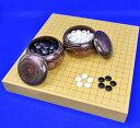 樂天商城 - 囲碁セット ヒバ2寸卓上碁盤セット(ガラス碁石梅・栗碁笥大)