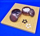 囲碁セット 新かや1寸卓上碁盤セット(蛤碁石25号 栗碁笥大)