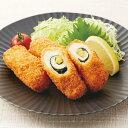 極洋)チーズと大葉のチキンロールカツ 約50g×10個(洋風調理 洋食 フライ お弁当 肉料