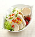 楽天業務用食材 食彩ネットショップ【新商品】日本ハム)サラダチキン(スライス) 1kg(6枚入)(冷凍食品 サラダ トッピング オードブル 鶏肉 鳥肉 チキン)