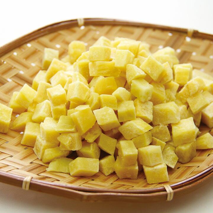 ライフフーズ)皮なしさつまいもダイス 1kg(冷凍食品 サイコロ状 サツマイモ 薩摩芋 カット野菜 2018年新商品 野菜)