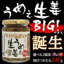 【お徳用】国産生姜を使用したごはんの友「うめぇ生姜BIGサイズ」240g1本 かつお しそ うめ風味【万能おかずしょうが】【ご飯の友】【お取り寄せ】