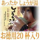 蒸し生姜湯 20包セット マルシマ しょうが湯 400g(20g×20袋) 高知県産生姜 ショウガ湯 種子島産 サトウキビ 国内産 しょうが
