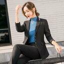 【送料無料】パンツスーツ ナチュラル オシャレ ジャケットセット 二点セット 大人 働くスーツ レデ...
