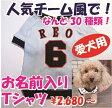名入れ!「人気チーム風」愛犬の野球ユニフォーム 小型犬 名入れTシャツ セミオーダー ペット用 犬 猫 ギフトにも!