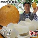 中野農園【王秋梨】5kgセット(自家用:7-12玉入り)【送...