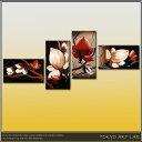 絵画 内装用 インテリア油絵/手描き(肉筆)の 花の絵話題集中のモダンアート 4枚組ロビー リビング