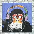 【油彩】絵 絵画 サル 猿軽量&かわいい!おしゃれ!!人気のノンフレームタイプ!【ファブリック】【テキスタイル】【壁 壁飾り】絵 絵画 壁掛け アート 青 藍色 blue indigoblue 絵画