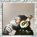 絵画 80cm『チンパンジー』【額無し】黒 白黒 モノトーン 【壁掛け】インテリア ノンフレーム エイプ APE 猿 サル 申年