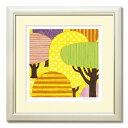 <yellow forest> イエローフォレスト【最高品質】ジークレー 版画 30角『モダンでおしゃれなアートを飾りませんか』プレゼント/贈り物/ギフトに 黄色 yellow 絵画