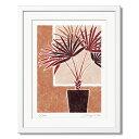 【ビスマルキア】絵画 インテリア 壁掛け 絵 優しい色合い 玄関やリビングに飾る絵 新居 新築 お祝い 壁飾り (四つ切り) 父の日