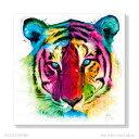 Tiger Pop SIZE:890*890mm アート 壁...