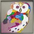 絵画 インテリア【ビビッドな ふくろう】梟の絵アート ディスプレイ フクロウ玄関 リビング 子供部屋に風水 壁掛けの 動物画【額付き】ビビッド vivid 絵画