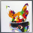 \お部屋にユニークな彩りを/ 絵画 油絵人気のリラクゼーションアート【 My lovely family ラブリーファミリー5】かわいいペットの油彩絵画子猫(こねこ) 子犬(こいぬ)の絵 額付き 壁掛け ぬくもりと癒しのモダンアートを【額付き】
