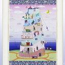 絵画 壁掛け 【NEW】【バベル de フジヤマ】「鮮やかな色彩と和洋折衷の遊び心を・・」ラメチップ入りゲル加工 アートフレーム パステル pastel