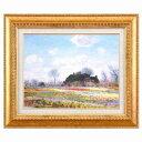 モネ(Claude Monet)金の額 万能の6号サイズ 複製画 洋画 有名な絵画 油絵お任せ下さい!初めての絵画購入「モネ 花畑」複製画