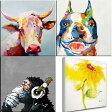 絵画 壁に飾りやすい60cmサイズ ドラマ使用の絵牛と犬の絵 ブルドッグ 壁掛け人気のおサルとひまわりも再入荷ビビッド vividおしゃれなインテリアに かわいいアートでお部屋をコーディネート