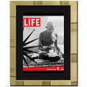 ポスター 額入り LIFE ライフポスター 壁掛けゴールド(金)メタリック 高級額装 日本製●マット付き アートポスター額付き LIFE (ライフ) ポスター 壁掛け