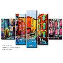 絵画 風景画【VENICE】ベニスの街並み 壁掛け アートパネル 油絵 おしゃれ インテリア 抽象アート 5枚組