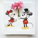 ミッキーマウス ミニーマウスのIKEBANA 生きてるインテリア 生け花 花瓶付き プレゼント DISNEY キャンバスパネル アートパネル