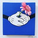 ミッキーマウス ミッキーのIKEBANA 生きてるインテリア 生け花 一輪挿し プレゼント DISNEY キャンバスパネル アートパネル