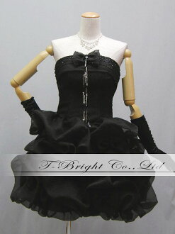 Sizes medium-length crepe! soft 51376 back lace party dress ★ minidress ★ (black)