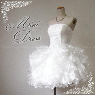 Mini wedding dress wedding dress, mini dress, party dresses too! -5-7-9-51076-2 No. 11 ★ (off white)