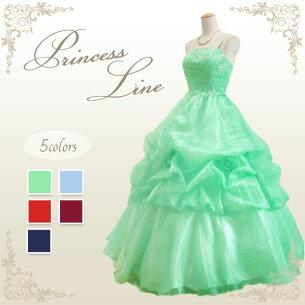ウエディング プリンセス スパンコール ライトグリーン