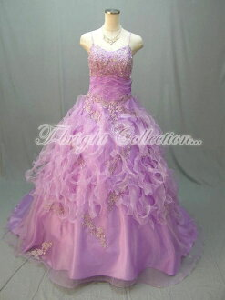 Size order Hira Hira organza cocktail dress ★ Princess ★ (purple) purple size given wedding dress ★ 51690