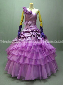 Sizes g. poop around a gorgeous dress ★ Princess ★ (purple) purple size given wedding dress ★ 51921