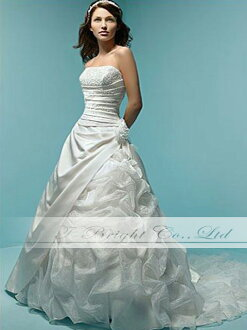 Custom wedding dress et008