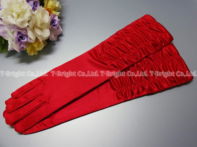 Dress glove / color glove ★ red ★ 36cm ★( g218)