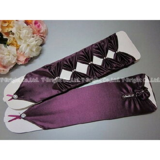 Medium ♪ ☆ 31 cm colored gloves ☆ Gothic purple (g232gp)