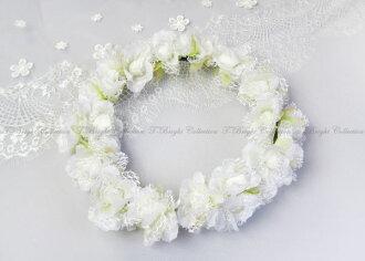 Popular flower Crown restocked! flower motif ornament ★ Corolla ★ headdress ★ off-white (h293)